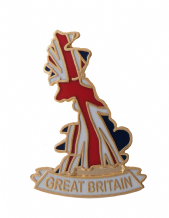 Great Britain Flag Map Union Jack Pin Badge